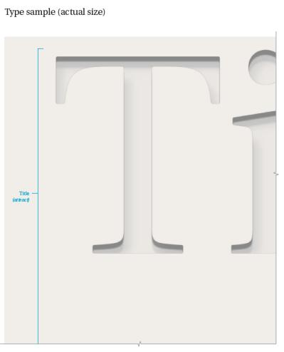 A representation of exhibit title text