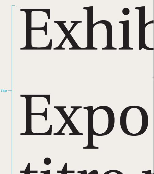 A representation of exhibit primary body text
